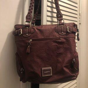 Large plum purse